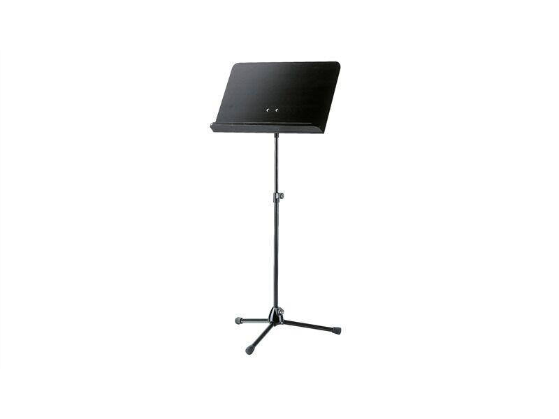 König & Meyer 118 1 Orchesternotenpult - Stativ schwarz, Holzplatte schwarz