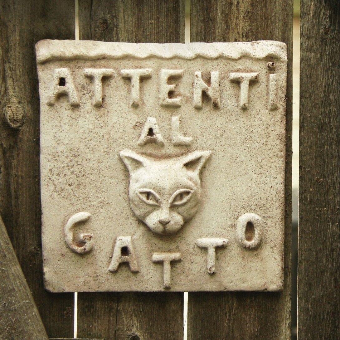 Cuidado Del Gato  parojo de decoración de Arte Escultura Placa por Orlandi fs59212