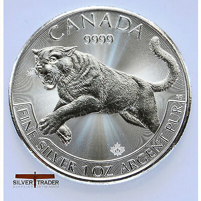 The 2016 Canadian Cougar 1 ounce silver bullion coin