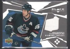 ED JOVANOVSKI 2003/04 BLACK DIAMOND THREADS GAME JERSEY SHARKS SP $15
