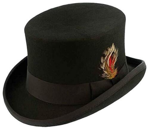 Black Kenny K Wool Felt English Topper Hat