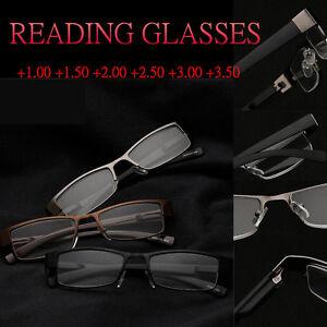 1de6f8c9099 Image is loading Men-Women-Unisex-Reading-Glasses-Readers-Metal-Full-