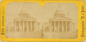 Francia Parigi, il Pantheon, Foto Stereo Vintage Albumina PL60OYL1n3
