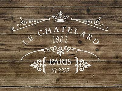 67 Mylar plantilla Shabby Chic Francés Vintage Craft Arte 125//190 micras A3//A4//A5