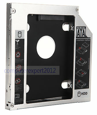 2nd HDD HD SSD Hard drive Optical Caddy Enclosure Adapter For MSI GE600 CR500