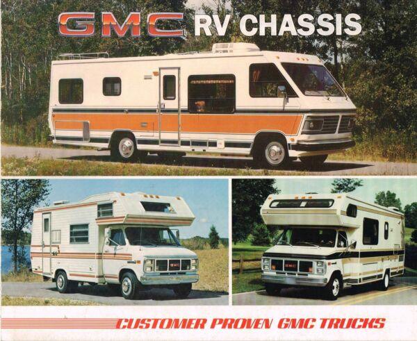 1985 Gmc Rv Telaio Brochure: Motore Casa, G-3500, P6t042, Rally Camper Speciale,
