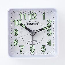 Casio TQ140-7D Travel Desk Quartz Alarm Clock Neobrite Resin Case Small Portable