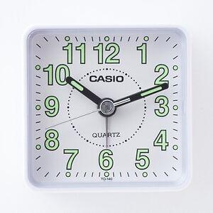 Casio Tq140-7d Voyage Bureau Quartz Réveil En Résine Case Petit Portable-afficher Le Titre D'origine Un RemèDe Souverain Indispensable Pour La Maison
