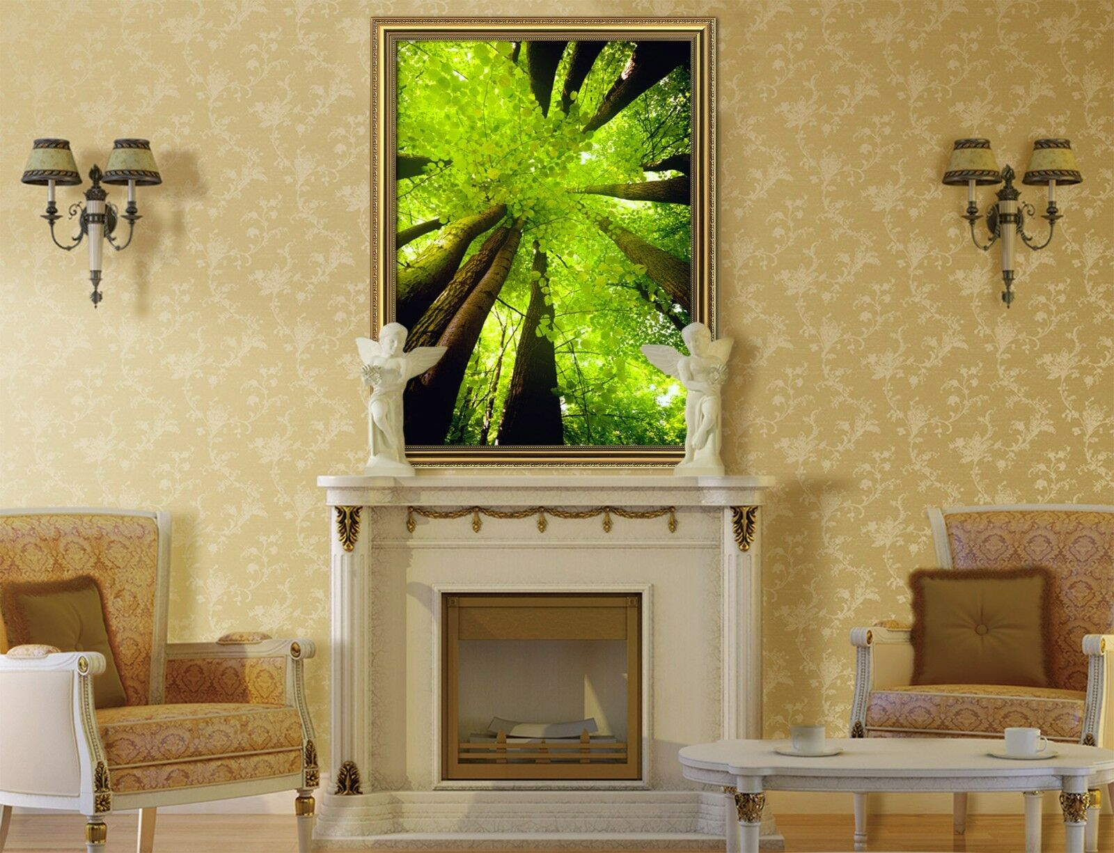 3D Forest View 557 Fake Framed Poster Home Decor Print Painting Unique Art