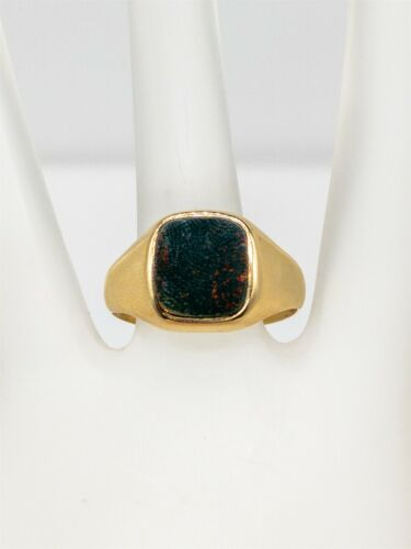 Antique Edwardian 1900s Signed HQ & S Bloodstone 9