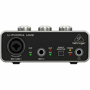U-PHORIA-USB-Audio-Interface-Recording-Microphone-Instrument-Equipment-UM-2-New
