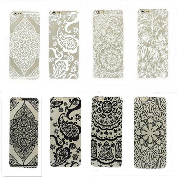 Henna Floral Paisley flower back Case Cover skin For Iphone 5 5S 5C 6 & 6 plus