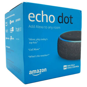 NEW-Amazon-Echo-Dot-3rd-Generation-Smart-Speaker-With-Alexa-Voice-Black