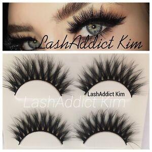 eca6df47fdc MIAMI 3 Mink Lashes Eyelashes Siberian 3D Makeup Fur Full Wispy ...