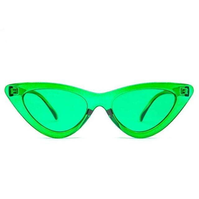 GloFX Cat Eye Color Therapy Glasses - Green - Chakra Mood Enhancing Colored Lens