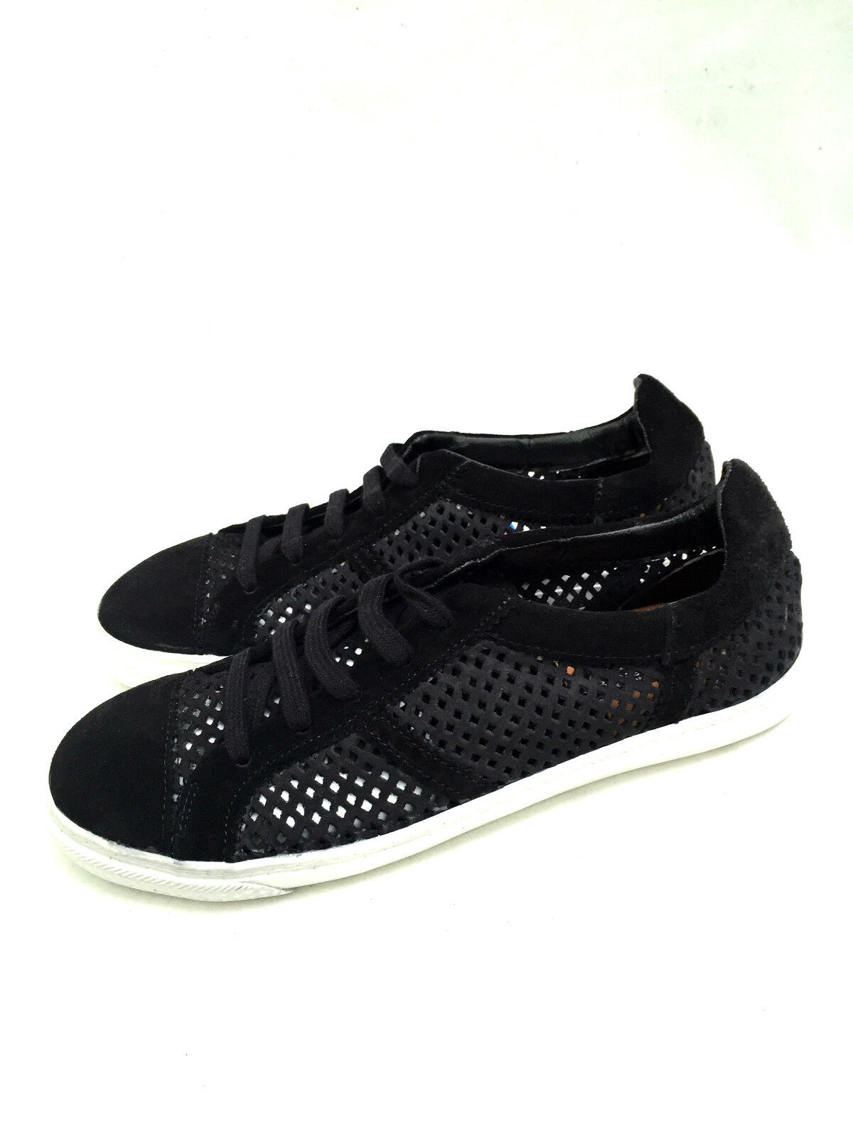 ZARA BLACK TRAINERS LEATHER TRAINERS BLACK SNEAKERS SIZE UK5/EUR38/US7.5 772604
