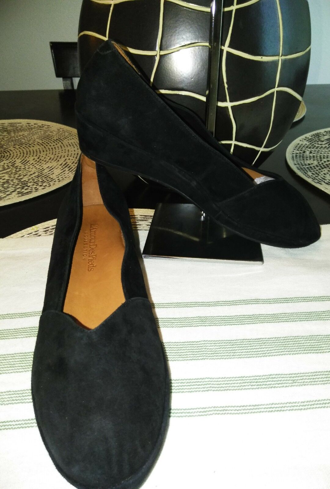 L 'amour des pulcros Bracey Negro Gamuza Zapatos ortopédicos Cuña Cuña Cuña Talla 11M  gran descuento
