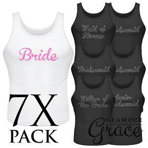 7-PACK-Singlet-Bride-Bridesmaid-Bridal-Party-Hens-Night-Personalised-Tank-Top