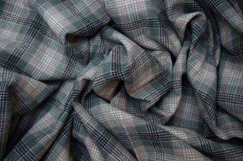 Cotton Flannel Plaid Tartan Fabric By The Yard # 17