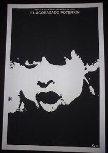 BATTLESHIP-POTEMKIN-Cuban-Silkscreen-Poster-for-Soviet-USSR-Movie-Cuba-Art