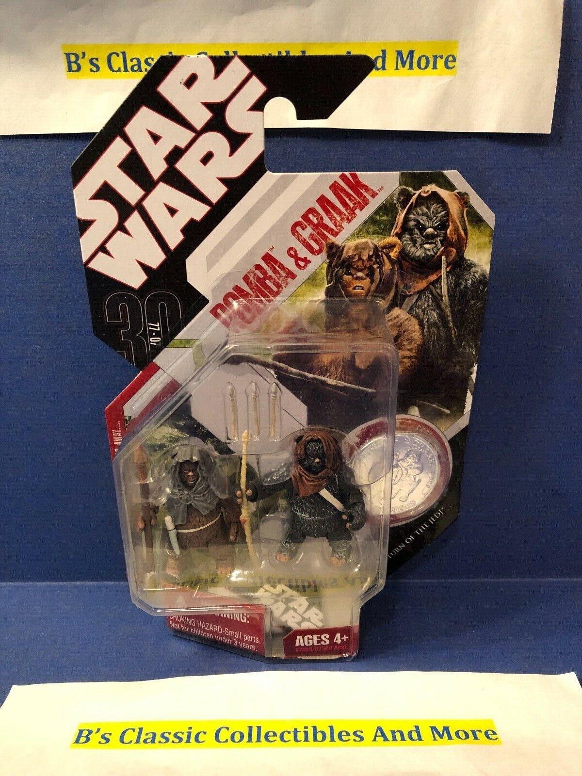 Star Wars Romba & Graak Ewoks 30th Anniversary Coin Figure New