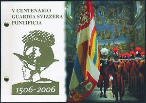 Vatikan-2-Euro-2006-Gedenkmuenze-Schweizer-Garde-im-Numisbrief