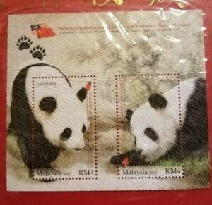 Miniature-sheet-Malaysia-2015-Panda-MNH