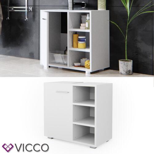 VICCO Waschbeckenunterschrank PERRY Weiß Waschtisch Unterschrank Badezimmer