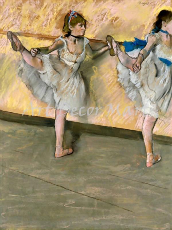 Danseuses la Barre - CANVAS OR PRINT WALL ART