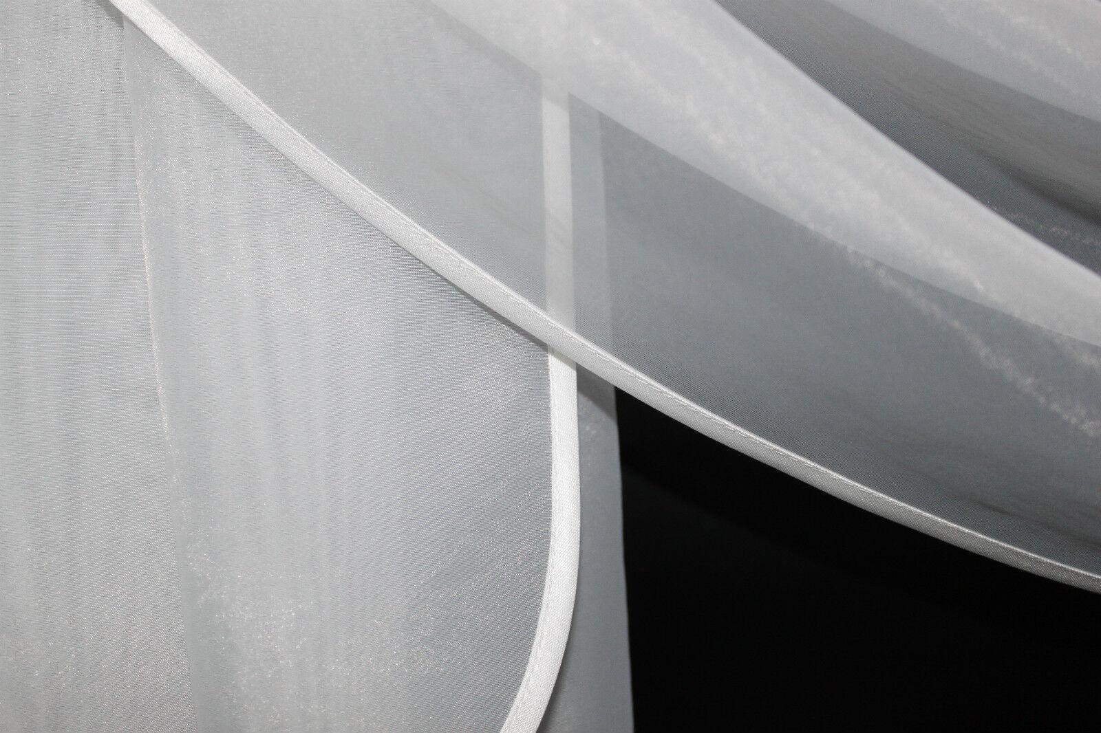 Deko - Gardine, Store, Vorhang in der Farbe weiss weiss weiss 4eae39