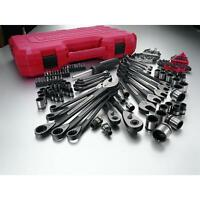 Craftsman 115 pc. Universal Mechanics Tool Set 1 4 and 3 8 in. Tools and Accessories