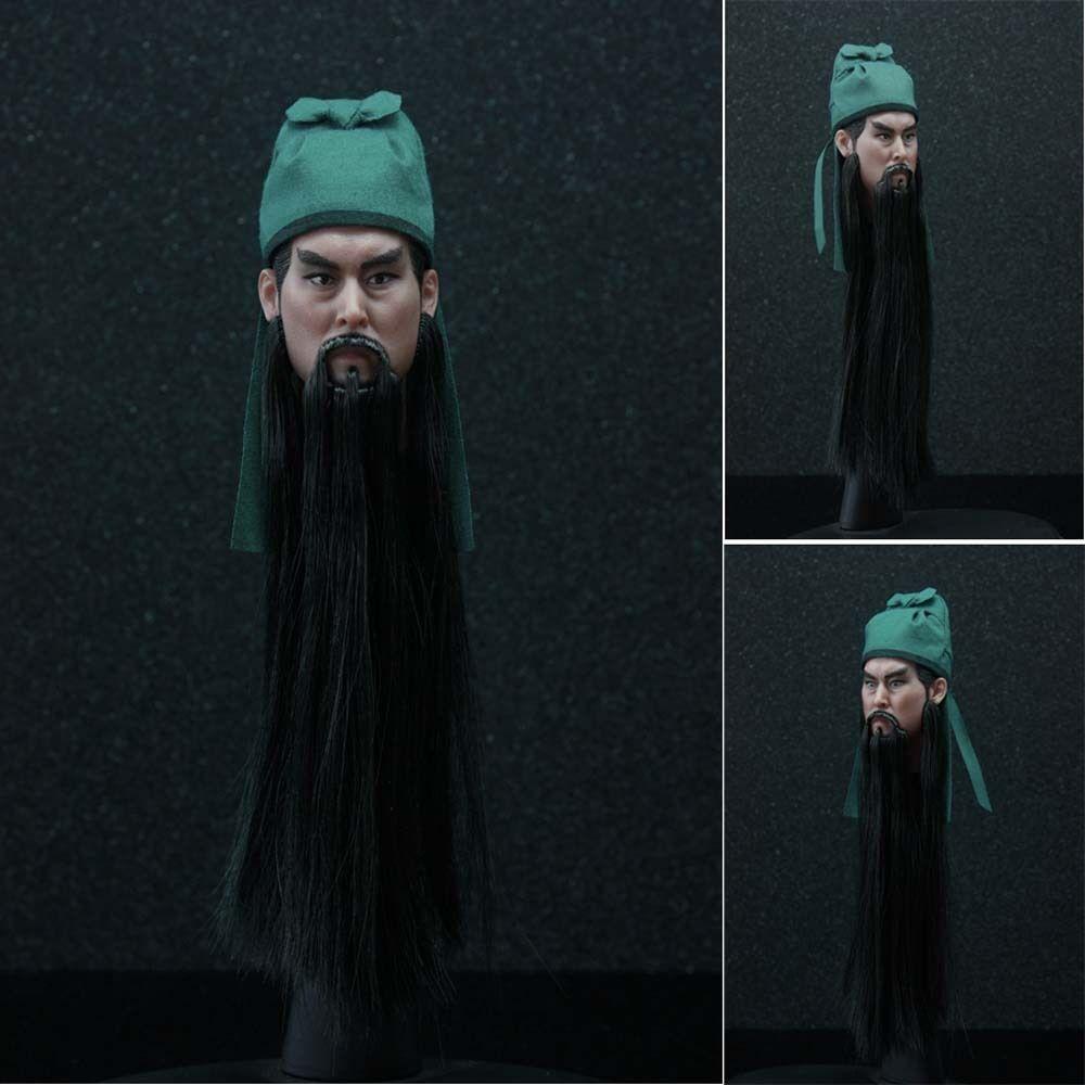 HOT FIGURE TOY 1 6 Hair transplant headplay GUAN YU headsculpt