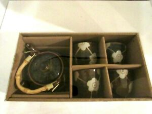 Stoneware-Pottery-Teapot-w-4-Cups-Tea-Set-NEW