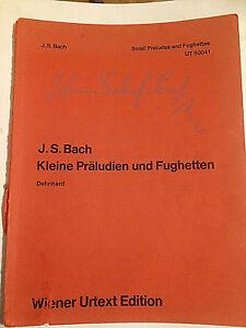 """Bach : """" Kleine Präludien Und Fughetten """" Seb Urtext Trendmarkierung Joh"""