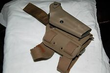 SAFARILAND DROP LEG TACTICAL HOLSTER FOR BERRETTA 92 6004 TAN W EXTENSION NICE