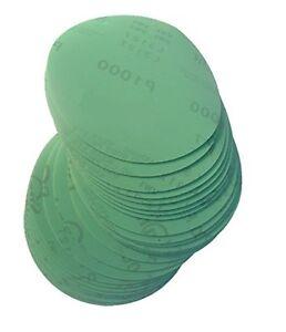 180 mm Schleifscheiben P60-2000 Exzenter Schleifpapier Klett haft grün  20 STÜCK