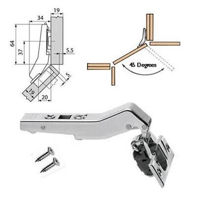 2x Hinge Angular 45º Gtv Kitchen, Angled Kitchen Cabinet Hinges