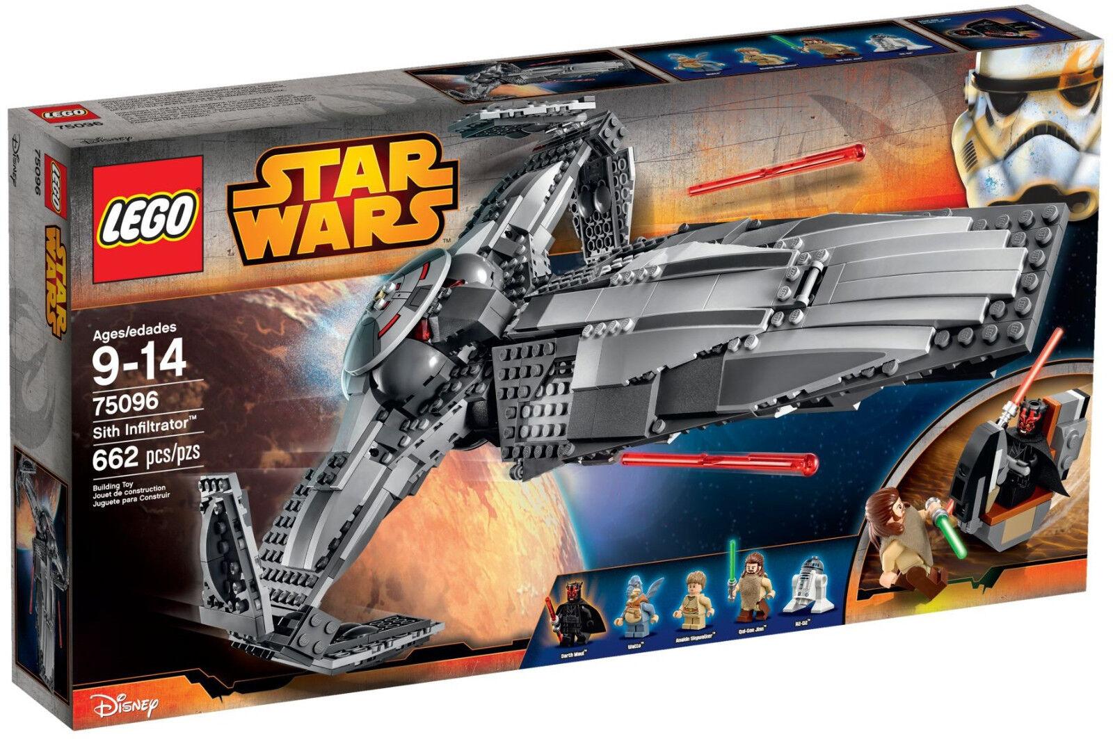 LEGO Star Wars - 75096 Sith Infiltrator con Watto e Qui-Gon Jinn-NUOVO & OVP