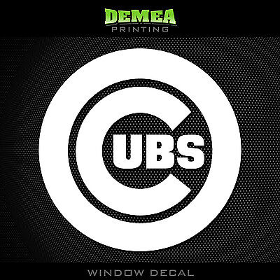 """for any flat surface CHICAGO /""""CUBS/"""" vinyl Decal adhesive graphic Sticker"""