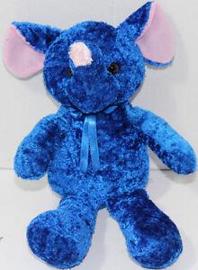 Circus-Circus-Casino-BLUE-PINK-ELEPHANT-Stuffed-Plush-Animal-SOFT-TOY-Very-Cute