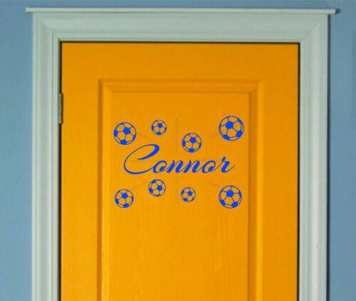 Children S Home Furniture Personalised Name Boys Football Bedroom Balls Decor Art Vinyl Wall Sticker Decal Home Decor