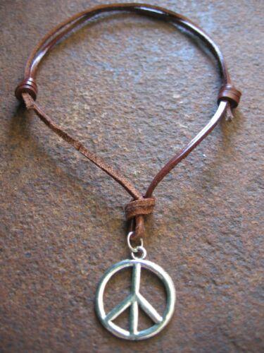 Peace collar remolque hippie estilo surfista Surfer marrón claro nuevo marrón cadena