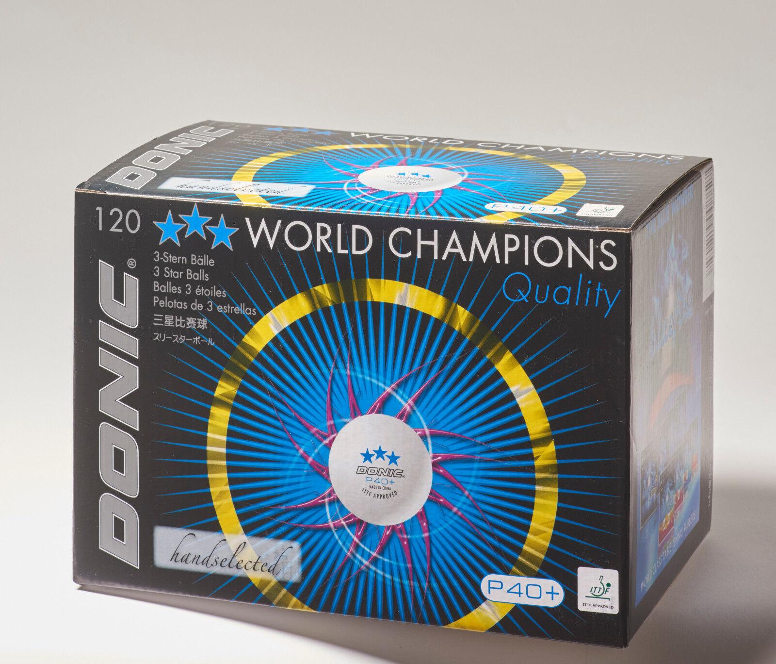 DONIC P40+  Ball 120er 120er 120er  NEU   OVP 91830b
