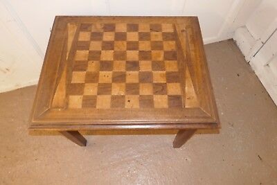 Other Occasional Table Inlaid Chess Or Games Board Set On Legs