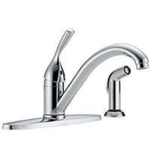 Delta 440-dst Single Handle Kitchen Faucet With Spray Chrome | eBay