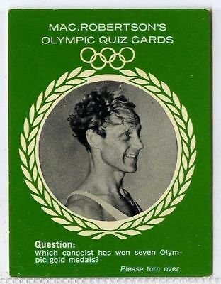 Olympic Quiz 1964 Vg-ex Perfect In Workmanship Orderly Gert Fredriksson Rare gm308-100 Macrobertsons