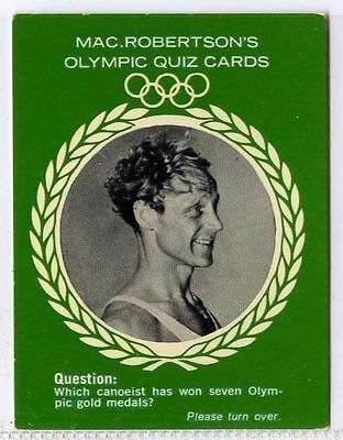 Macrobertsons Rare Orderly Olympic Quiz 1964 Vg-ex Perfect In Workmanship Gert Fredriksson gm308-100