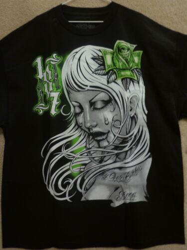 "187 Inc Men/'s T-Shirt /""Boogstar Zombie /"" -Color Black//Green"