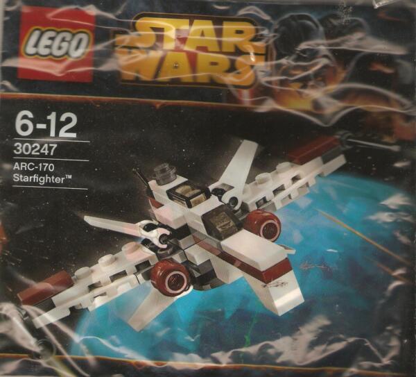 * Lego: Star Wars-arc-170 Starfighter 30247-kit Completo Sigillato [e] Facile Da Riparare