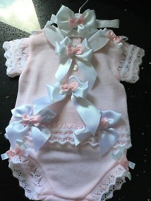 ❤️Zip Zap Pink Ruffle Spanish Designer Layer OutFit Girls Baby Unique Boutique